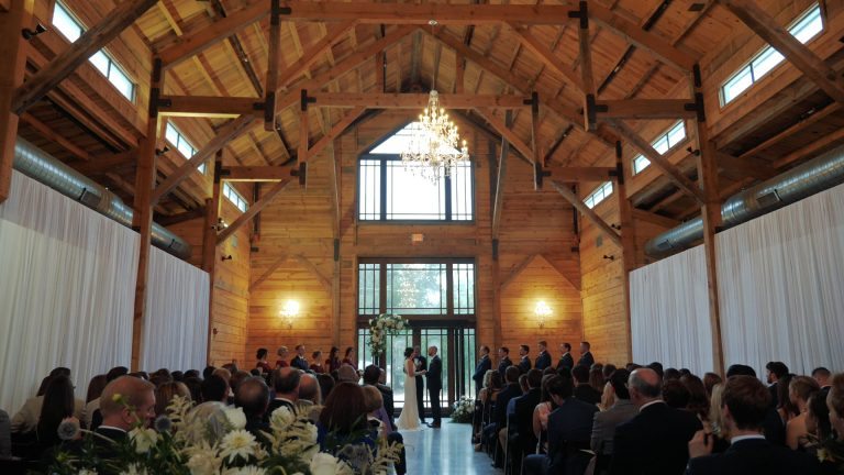 Indoors wedding at The Addison Grove in Dripping Springs, TX